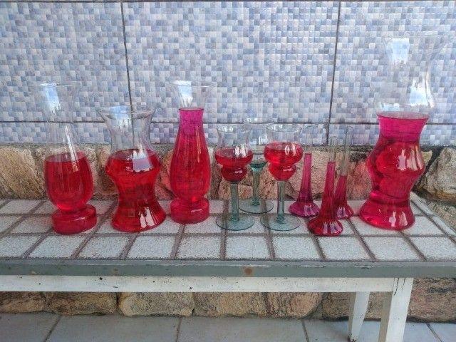 Vasos Em Vidro tipo Taça e Castiçal para Festa, Casamento e Flores