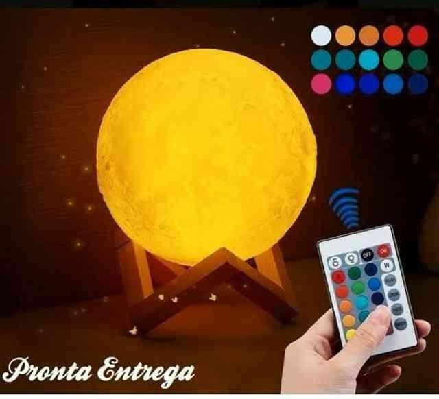 Nova Luminária Lua Multicolorida com tecnologia Bluetooth para ouvir suas músicas!
