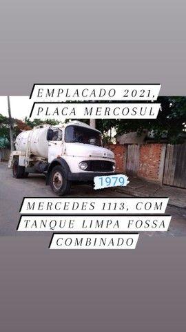 Vendo ou alugo: Caminhão Tanque Limpa Fossa Combinado 1113
