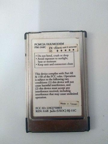 Cartão PCMCIA 2.1 fax modem - Foto 2