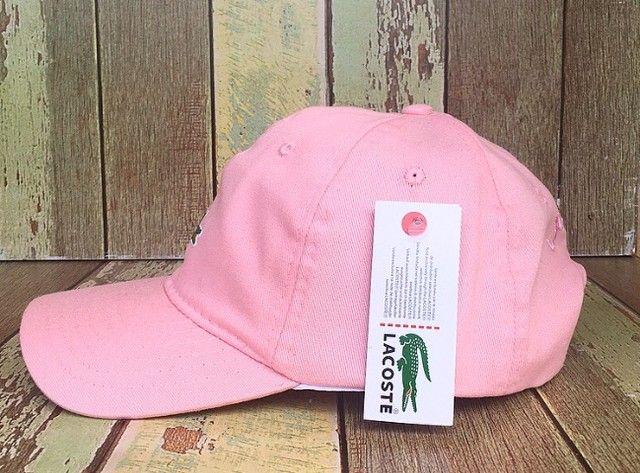Boné lacoste rosa detalhe jacaré na frente - Foto 2