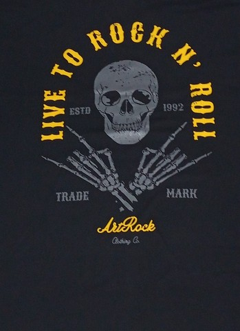 Camiseta Live To Rock - Masculina - Tamanho G - Foto 2