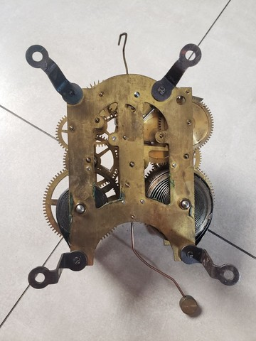 Maquina de relógio Antigo Ansonia Clock New York - Foto 2