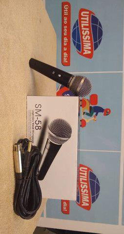 Microfone SM-58 com cabo - Foto 3