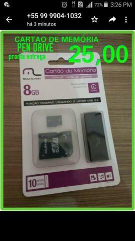 Cartão de memória Multilaser 8GB