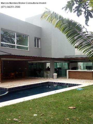 Linda casa pra venda ou locação - Alphaville Salvador 1. Lote diferenciado em parte alta.  - Foto 2