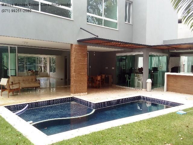 Linda casa pra venda ou locação - Alphaville Salvador 1. Lote diferenciado em parte alta.