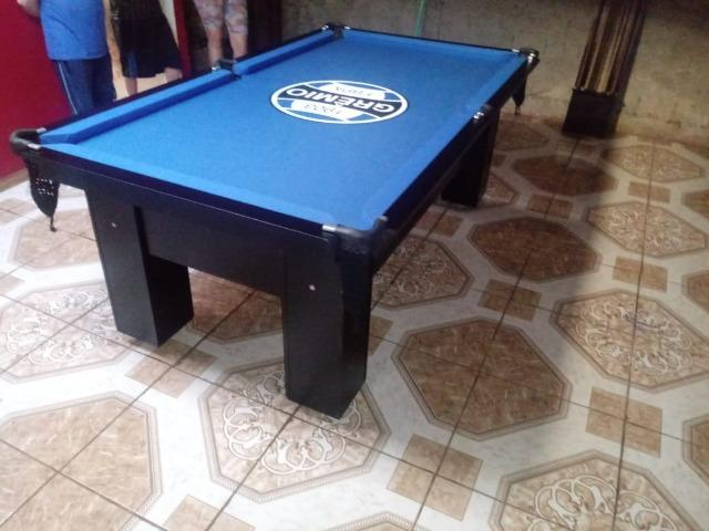 Mesa Quatro Pés Cor Preta Tecido Azul Logo Grêmio Mod. CXED2360 - Foto 3