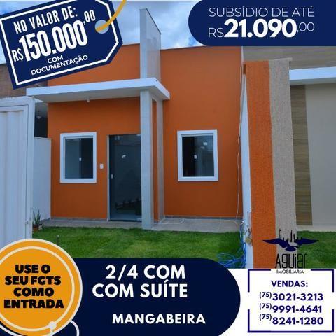 Lindas casas de 2/4 sendo 1 suíte na Mangabeira