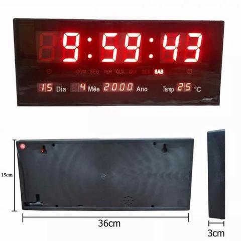 726d914be8a Relógio Parede Led Digital Temp. Calendário Alarme Le- 2111 - Outros ...