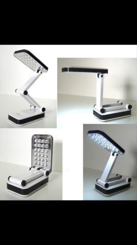 Luminária portatil recarregável 24 leds