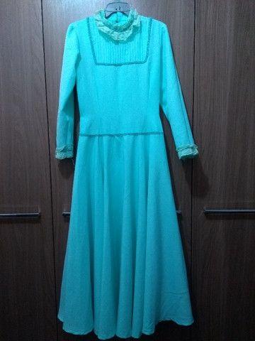 Pilcha artística feminina (vestido de prenda)