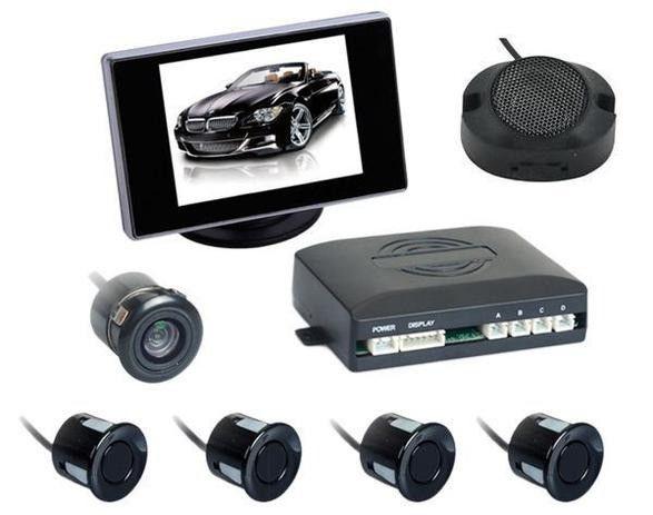 Sensor estacionamento Preto 4 pontos c/ câmera e tela 3,5? 12v - Zapos - Caruaru - Foto 3
