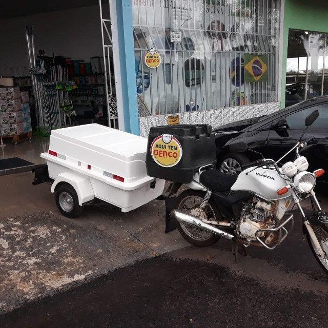 Carretinha para moto modelo Minimum SX Motoprático - Foto 4