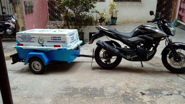 Carretinha para moto modelo Minimum SX Motoprático - Foto 3