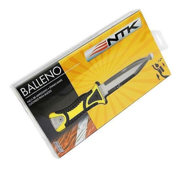 Faca para mergulho NTK Balleno com bainha e corda para amarração