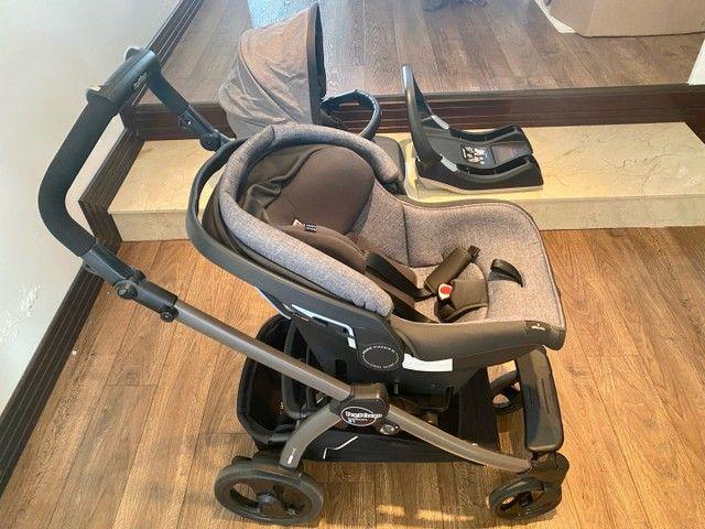 Conjunto Peg-Pérego Book 51: Carrinho, Bebê Conforto com a Base para veículo - Foto 6