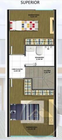 Casa Geminada para Venda em Joinville, Iririú, 2 dormitórios, 1 banheiro - Foto 2