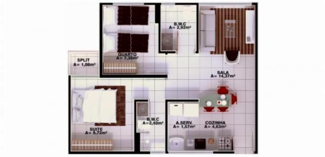 Apartamento à venda, 3 quartos, 1 suíte, 1 vaga, Uruguai - Teresina/PI - Foto 6