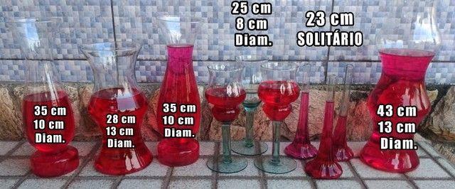 Vasos Em Vidro tipo Taça e Castiçal para Festa, Casamento e Flores - Foto 6