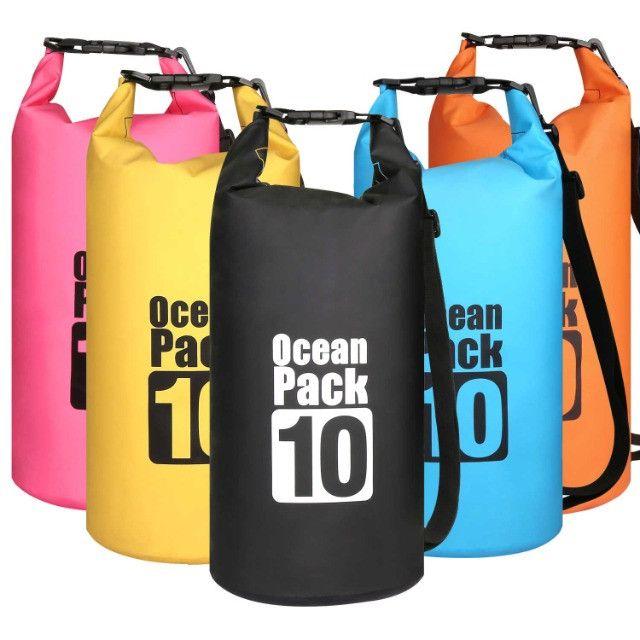Bolsa Mochila Impermeável Estanque Saco Prova de Água 10 Litros Ocean Pack - Foto 2