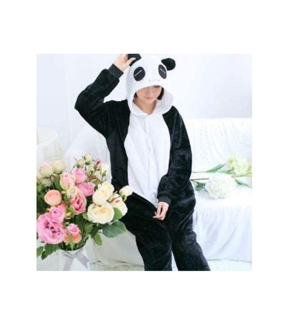 Lindo Pijama Fantasia Panda Macacão com Capuz - Foto 2