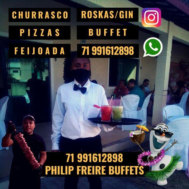 Buffet Roskas Gin Churrasco Feijoada Pizza Churrasqueiros Roskeiros Garçom - Foto 4