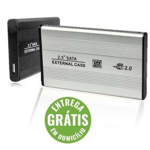 (Entrega Grátis)Case Gaveta Hd Sata Notebook Usb Externa Pc Notebook Xbox Ps3 Wii T2