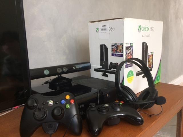 Xbox 360+Kinect+2 controles+fone de ouvido+3 jogos+HD 250GB 108bae4e1f