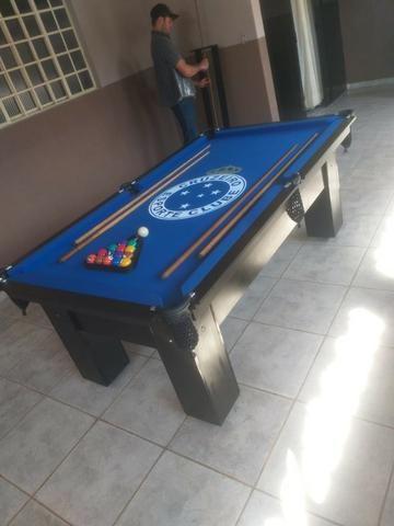 Mesa Caçapa de Redes Cor Preta Tecido Azul Logo Cruzeiro Mod. GQUE9172 - Foto 2