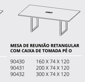 Mesa reunião 3,00x1,20m - Foto 3
