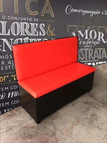 Sofá Booth Estofado Assento e Encosto