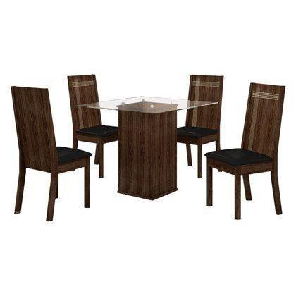 Mesa Havana 4 cadeiras com acento estofado