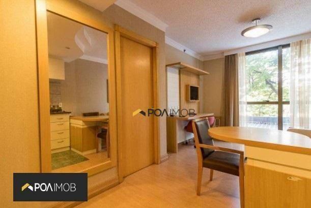 Apartamento mobiliado com 01 dormitório no Moinhos de Vento - Foto 3