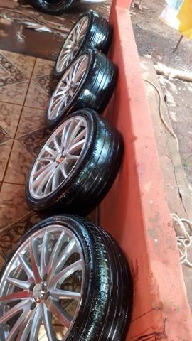 Rodas 17 com pneus bons - Foto 2