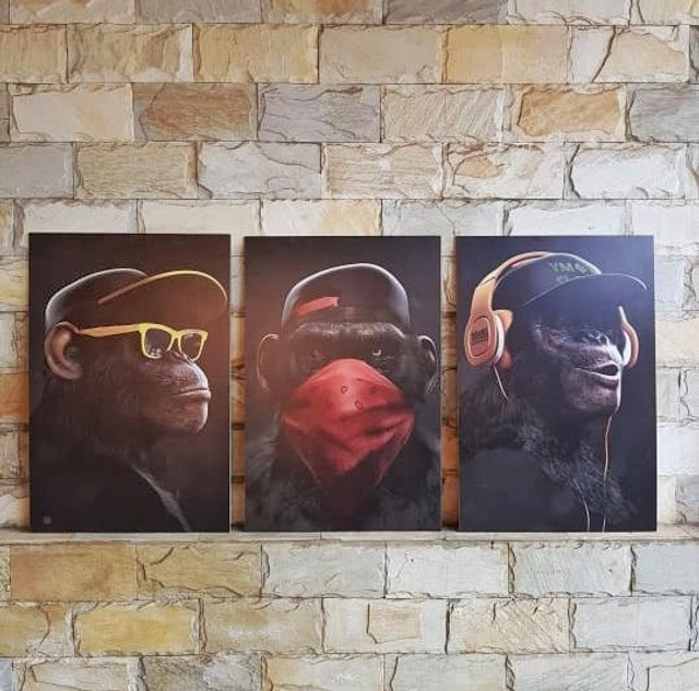 Conjunto de 3 quadros maravilhosos- 180x90 - Foto 2