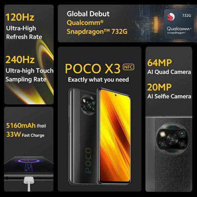 Poco X3 NFC 6GB/128GB, nota, garantia, 01 mês de uso - Foto 3