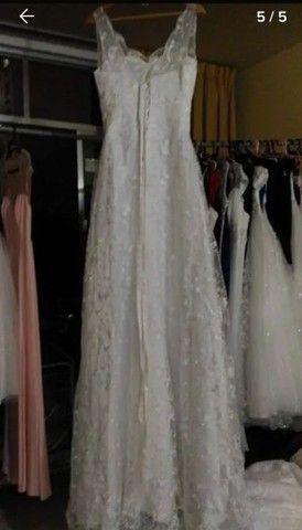Vestido de Noiva Modelo Trapézio -40 a 44 - Foto 3