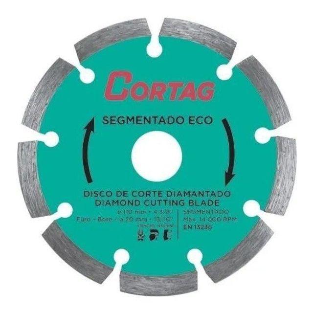 Disco De Corte Diamantado 110mm Segmentado Eco - Cortag