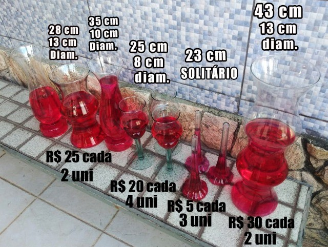 Vasos Em Vidro tipo Taça e Castiçal para Festa, Casamento e Flores - Foto 5