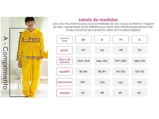 Lindo Pijama Fantasia Panda Macacão com Capuz - Foto 6