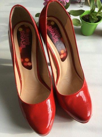 Sapato verniz vermelho tam38 - Foto 3