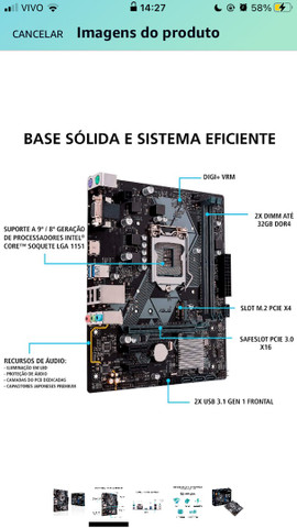 Gigabyte h310m DDR4 na caixa - Foto 2
