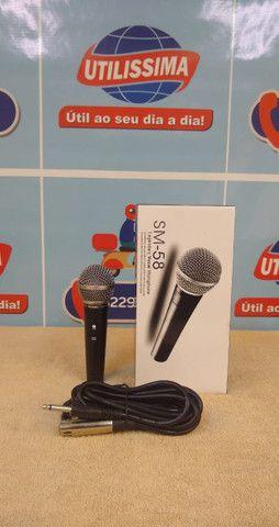 Microfone SM-58 com cabo - Foto 4