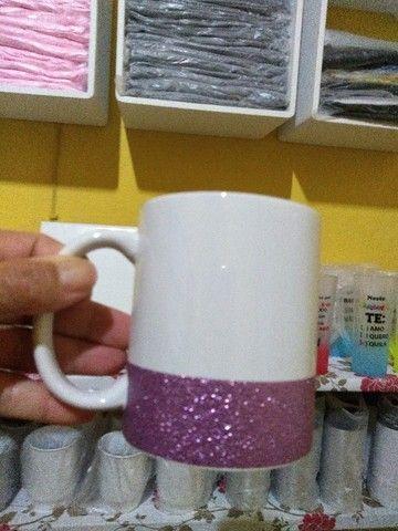 Caneca com Glitter para Sublimação - Foto 3