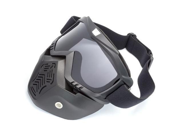 Máscara De Proteção Com Óculos Removível Para Capacete Motos - Peças ... d3a61e33a1