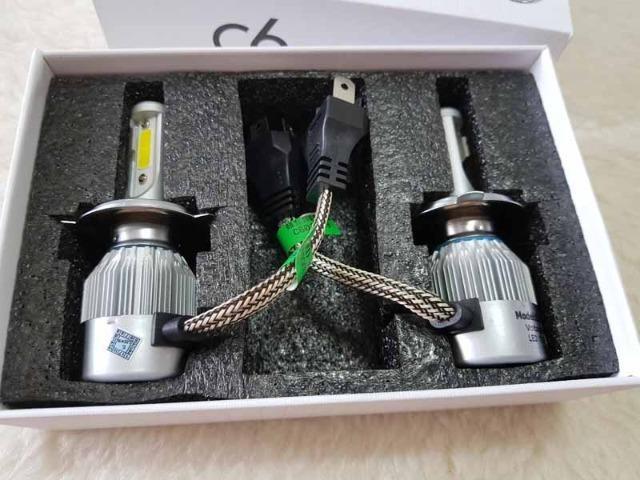 LED modelo H4 Super brilho para seu farol - Novo modelo sem Reator 7200LM de potencia 72W
