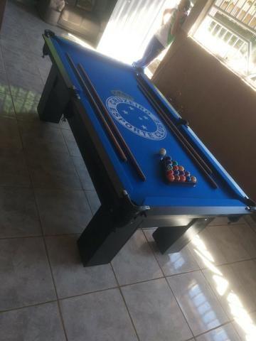 Mesa Caçapa de Redes Cor Preta Tecido Azul Logo Cruzeiro Mod. GQUE9172 - Foto 3