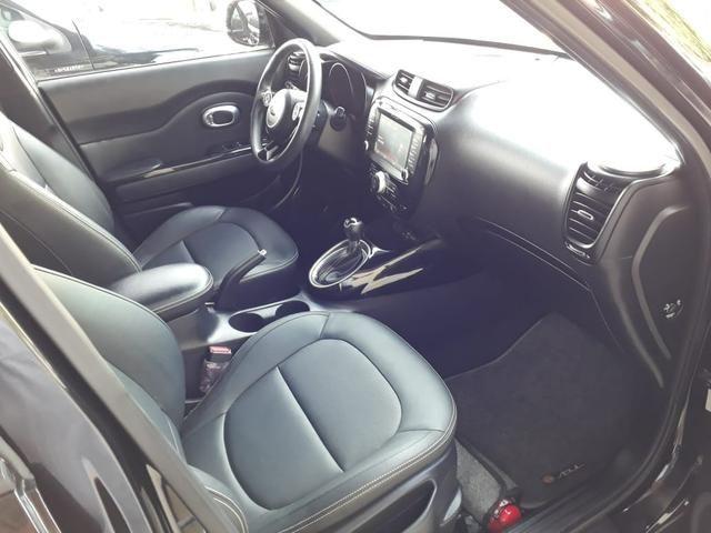 Kia 2016 soul 1.6 ex Automatico top de linha impecável garantia de fábrica teto confira - Foto 9