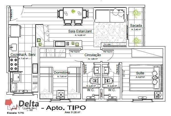 Apartamento com 2 dormitórios à venda, 62 m² por R$ 120.000 - Paricatuba - Benevides/PA - Foto 11